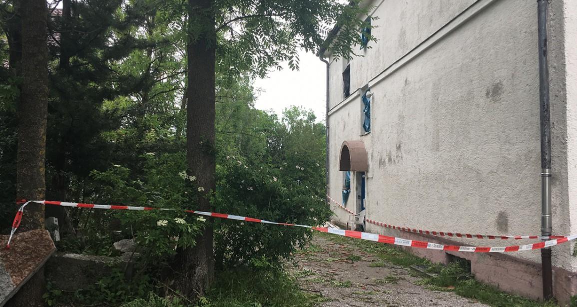 Zugang zum Atelierhaus gesperrt