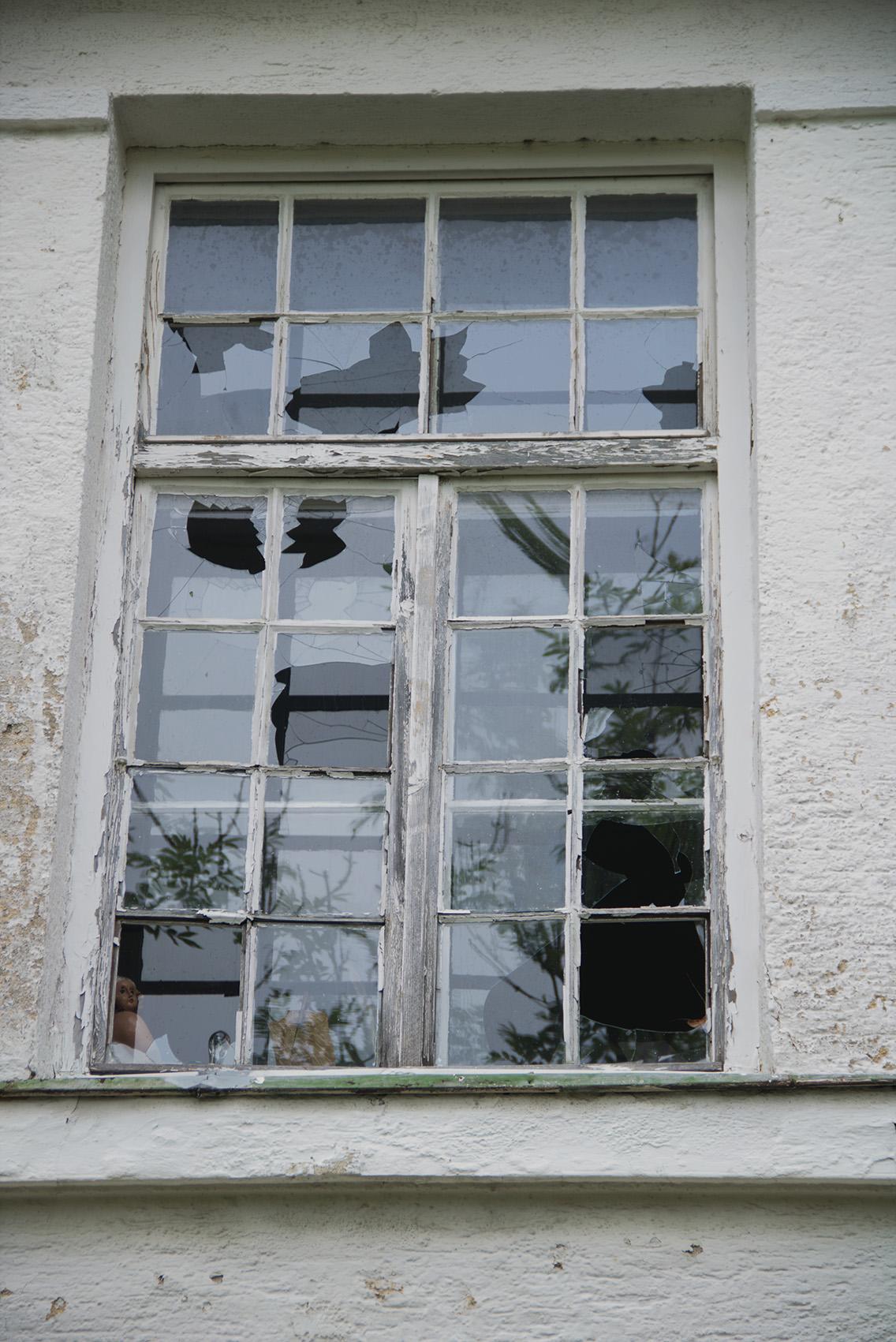 Hagel zerschlug auch die Fenster